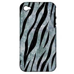 Skin3 Black Marble & Ice Crystals Apple Iphone 4/4s Hardshell Case (pc+silicone)