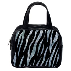 Skin3 Black Marble & Ice Crystals (r) Classic Handbags (one Side) by trendistuff