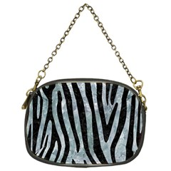 Skin4 Black Marble & Ice Crystals (r) Chain Purses (one Side)  by trendistuff