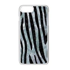Skin4 Black Marble & Ice Crystals (r) Apple Iphone 8 Plus Seamless Case (white)