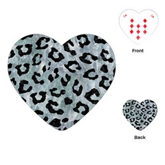 Skin5 Black Marble & Ice Crystals (r) Playing Cards (heart)  by trendistuff