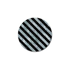 Stripes3 Black Marble & Ice Crystals Golf Ball Marker by trendistuff