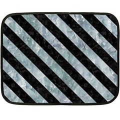 Stripes3 Black Marble & Ice Crystals Double Sided Fleece Blanket (mini)  by trendistuff