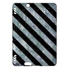 Stripes3 Black Marble & Ice Crystals Kindle Fire Hdx Hardshell Case by trendistuff