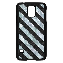 Stripes3 Black Marble & Ice Crystals Samsung Galaxy S5 Case (black) by trendistuff