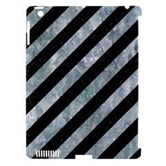 Stripes3 Black Marble & Ice Crystals (r) Apple Ipad 3/4 Hardshell Case (compatible With Smart Cover) by trendistuff