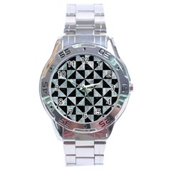 Triangle1 Black Marble & Ice Crystals Stainless Steel Analogue Watch by trendistuff