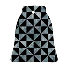 Triangle1 Black Marble & Ice Crystals Bell Ornament (two Sides) by trendistuff