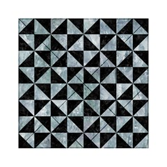 Triangle1 Black Marble & Ice Crystals Acrylic Tangram Puzzle (6  X 6 ) by trendistuff