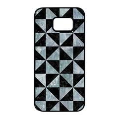 Triangle1 Black Marble & Ice Crystals Samsung Galaxy S7 Edge Black Seamless Case by trendistuff