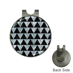 Triangle2 Black Marble & Ice Crystals Hat Clips With Golf Markers by trendistuff