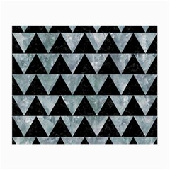 Triangle2 Black Marble & Ice Crystals Small Glasses Cloth by trendistuff