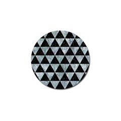 Triangle3 Black Marble & Ice Crystals Golf Ball Marker (10 Pack) by trendistuff