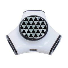 Triangle3 Black Marble & Ice Crystals 3 Port Usb Hub