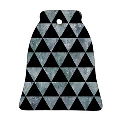 Triangle3 Black Marble & Ice Crystals Bell Ornament (two Sides) by trendistuff