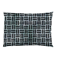 Woven1 Black Marble & Ice Crystals Pillow Case (two Sides) by trendistuff