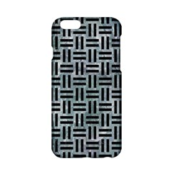 Woven1 Black Marble & Ice Crystals Apple Iphone 6/6s Hardshell Case by trendistuff