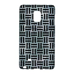 Woven1 Black Marble & Ice Crystals Galaxy Note Edge by trendistuff