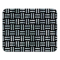 Woven1 Black Marble & Ice Crystals (r) Double Sided Flano Blanket (large)  by trendistuff