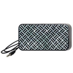 Woven2 Black Marble & Ice Crystals Portable Speaker by trendistuff