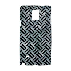 Woven2 Black Marble & Ice Crystals Samsung Galaxy Note 4 Hardshell Case by trendistuff