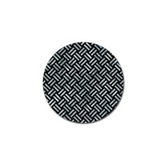 Woven2 Black Marble & Ice Crystals (r) Golf Ball Marker (10 Pack) by trendistuff
