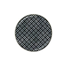 Woven2 Black Marble & Ice Crystals (r) Hat Clip Ball Marker by trendistuff