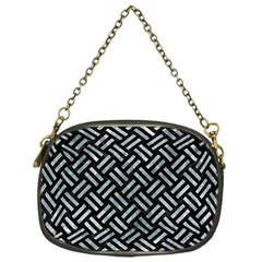 Woven2 Black Marble & Ice Crystals (r) Chain Purses (one Side)  by trendistuff
