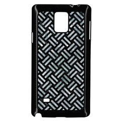 Woven2 Black Marble & Ice Crystals (r) Samsung Galaxy Note 4 Case (black) by trendistuff