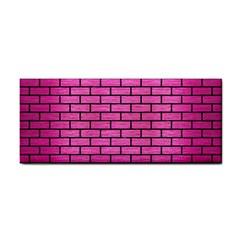 Brick1 Black Marble & Pink Brushed Metal Cosmetic Storage Cases by trendistuff