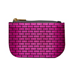 Brick1 Black Marble & Pink Brushed Metal Mini Coin Purses by trendistuff