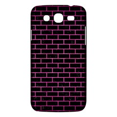Brick1 Black Marble & Pink Brushed Metal (r) Samsung Galaxy Mega 5 8 I9152 Hardshell Case  by trendistuff