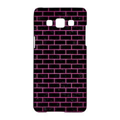 Brick1 Black Marble & Pink Brushed Metal (r) Samsung Galaxy A5 Hardshell Case  by trendistuff
