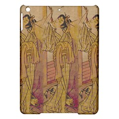 Japanese Geisha With Cat Illustration Ipad Air Hardshell Cases