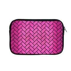 Brick2 Black Marble & Pink Brushed Metal Apple Macbook Pro 13  Zipper Case by trendistuff
