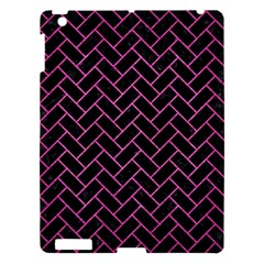 Brick2 Black Marble & Pink Brushed Metal (r) Apple Ipad 3/4 Hardshell Case by trendistuff
