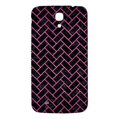 Brick2 Black Marble & Pink Brushed Metal (r) Samsung Galaxy Mega I9200 Hardshell Back Case by trendistuff