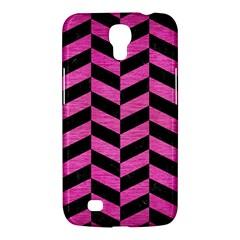 Chevron1 Black Marble & Pink Brushed Metal Samsung Galaxy Mega 6 3  I9200 Hardshell Case by trendistuff