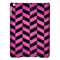 Chevron1 Black Marble & Pink Brushed Metal Ipad Air Hardshell Cases by trendistuff