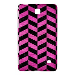 Chevron1 Black Marble & Pink Brushed Metal Samsung Galaxy Tab 4 (8 ) Hardshell Case  by trendistuff