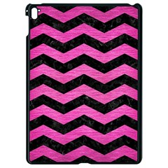 Chevron3 Black Marble & Pink Brushed Metal Apple Ipad Pro 9 7   Black Seamless Case by trendistuff
