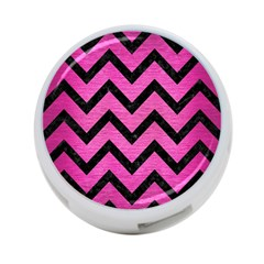 Chevron9 Black Marble & Pink Brushed Metal 4 Port Usb Hub (one Side)