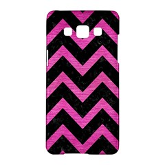 Chevron9 Black Marble & Pink Brushed Metal (r) Samsung Galaxy A5 Hardshell Case  by trendistuff
