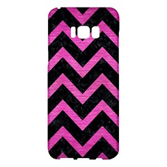 Chevron9 Black Marble & Pink Brushed Metal (r) Samsung Galaxy S8 Plus Hardshell Case