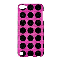 Circles1 Black Marble & Pink Brushed Metal Apple Ipod Touch 5 Hardshell Case by trendistuff