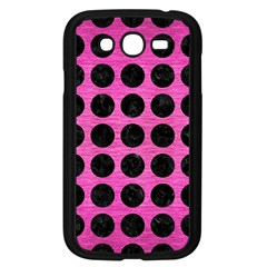 Circles1 Black Marble & Pink Brushed Metal Samsung Galaxy Grand Duos I9082 Case (black) by trendistuff
