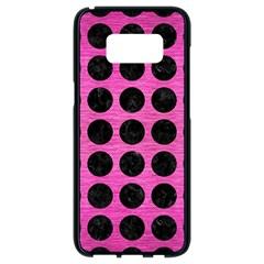 Circles1 Black Marble & Pink Brushed Metal Samsung Galaxy S8 Black Seamless Case by trendistuff