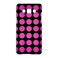 Circles1 Black Marble & Pink Brushed Metal (r) Samsung Galaxy A5 Hardshell Case  by trendistuff