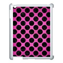 Circles2 Black Marble & Pink Brushed Metal Apple Ipad 3/4 Case (white) by trendistuff
