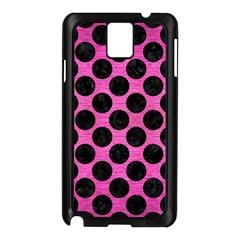 Circles2 Black Marble & Pink Brushed Metal Samsung Galaxy Note 3 N9005 Case (black) by trendistuff